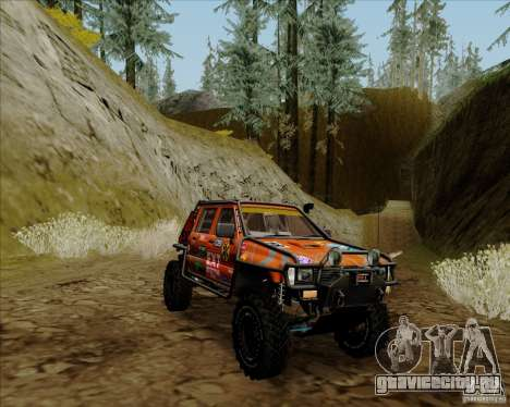 Nissan Navara Off-Road для GTA San Andreas вид справа