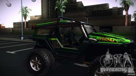 Tiger 4x4 для GTA San Andreas вид сзади слева