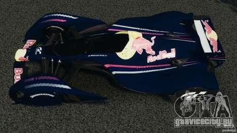 Red Bull X2010 для GTA 4 вид справа