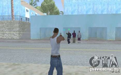 Голубой прицел для GTA San Andreas третий скриншот