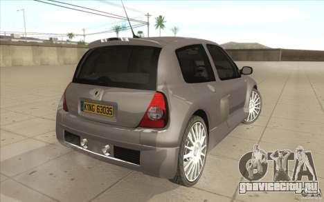 Renault Clio V6 для GTA San Andreas вид сзади