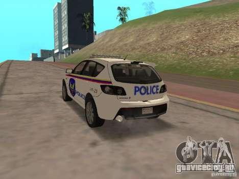 Mazda 3 Police для GTA San Andreas вид слева