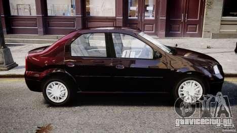 Dacia Logan 2007 Prestige 1.6 для GTA 4 вид сверху