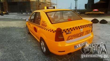 Dacia Logan Facelift Taxi для GTA 4 вид сзади слева