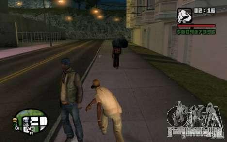 Кидаться в прохожих мусором для GTA San Andreas