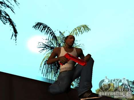 Red Chrome Weapon Pack для GTA San Andreas десятый скриншот