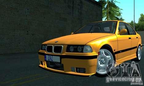 BMW  M3 Е36 для GTA San Andreas вид сзади слева