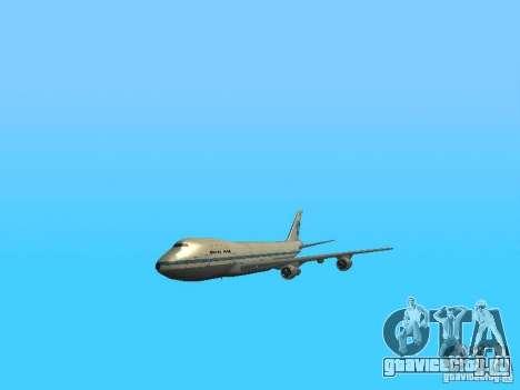 Boeing 747-100 Pan American Airways для GTA San Andreas вид изнутри