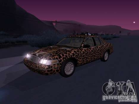 Ford Crown Victoria для GTA San Andreas вид изнутри