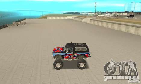 Chevrolet Blazer K5 Monster Skin 1 для GTA San Andreas вид слева