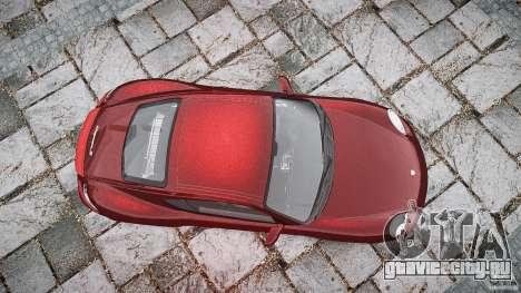 Porsche Cayman S v1 для GTA 4 вид сверху