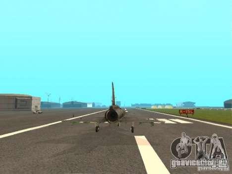 Saab JA-37 Viggen для GTA San Andreas вид сзади