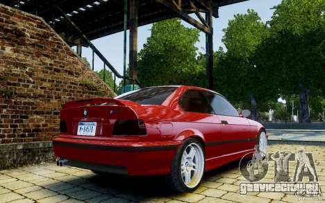 BMW M3 E36 v1.0 для GTA 4 вид сзади