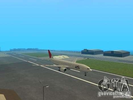 Boeing 777-200 Japan Airlines для GTA San Andreas вид сзади слева
