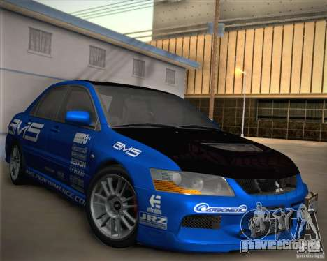 Mitsubishi Lancer Evolution IX Tunable для GTA San Andreas колёса