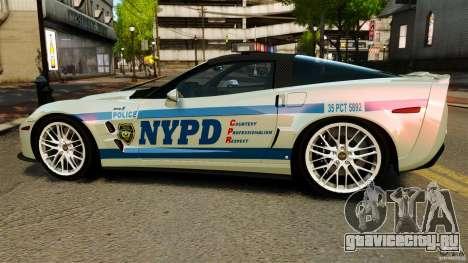 Chevrolet Corvette ZR1 Police для GTA 4 вид слева