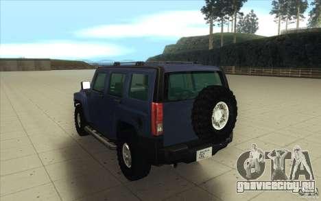 Hummer H3 для GTA San Andreas вид сбоку