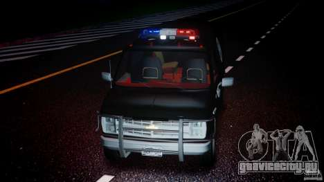 Chevrolet G20 Police Van [ELS] для GTA 4 вид сверху