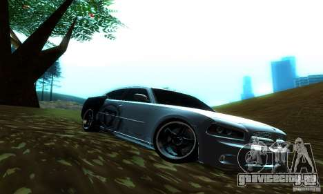 Dodge Charger SRT8 Mopar для GTA San Andreas вид сзади слева