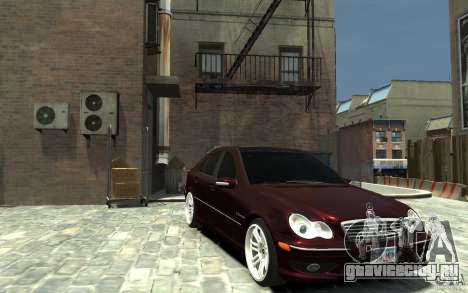 Mercedes-Benz C32 AMG Light Tuning для GTA 4 вид сзади