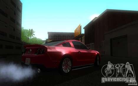 Ford Mustang GT V6 2011 для GTA San Andreas вид сзади слева