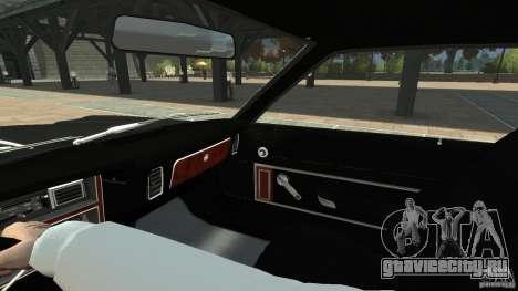 Plymouth Volare Coupe 1977 для GTA 4 вид сверху