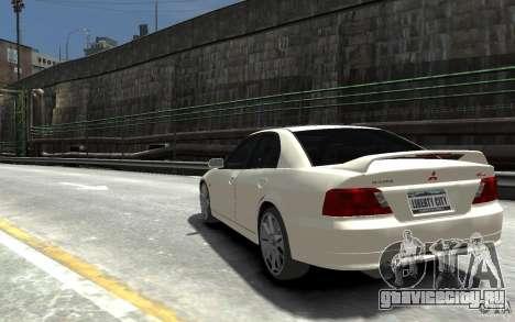 Mitsubishi Galant 8 VR-4 для GTA 4 вид сзади слева
