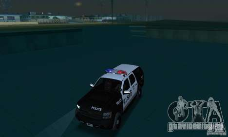 Chevrolet Suburban 2007 LSPD для GTA San Andreas вид изнутри