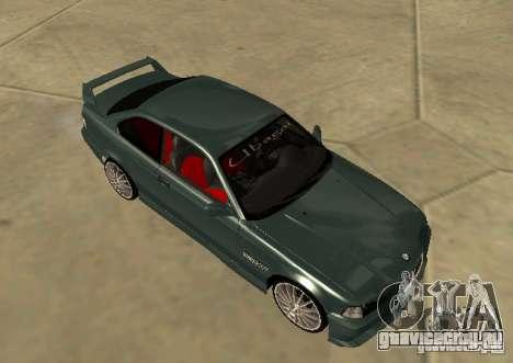 BMW E36 Coupe для GTA San Andreas вид сзади слева