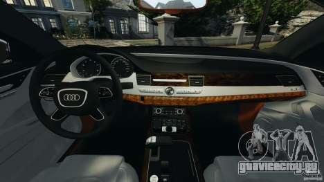 Audi A8 Limo v1.2 для GTA 4 вид сзади