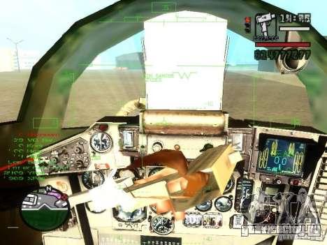 Миг 29 ОВТ для GTA San Andreas вид сбоку