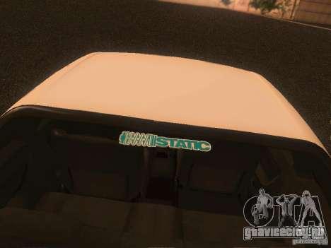 Nissan Skyline GTS R32 JDM для GTA San Andreas вид изнутри