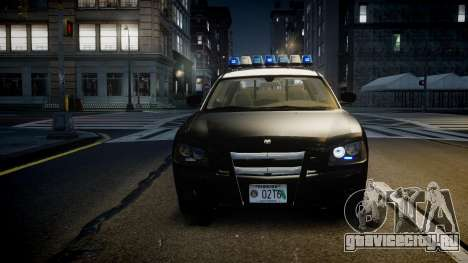 Dodge Charger Florida Highway Patrol [ELS] для GTA 4 вид изнутри