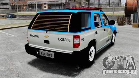Chevrolet Blazer 2010 PMERJ ELS для GTA 4 вид сзади слева