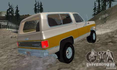 Chevrolet Blazer 1979 для GTA San Andreas вид слева