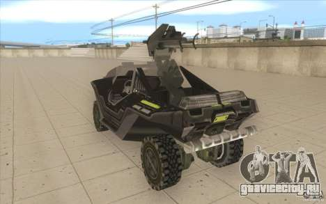 Halo Warthog для GTA San Andreas вид сзади слева