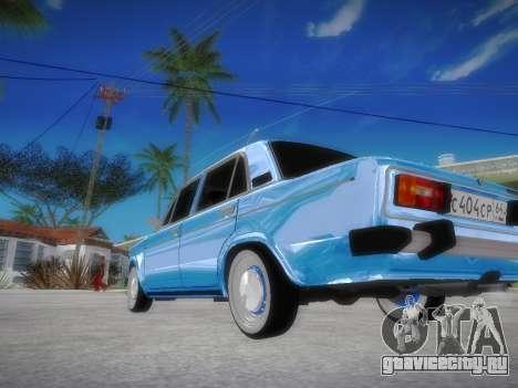 ВАЗ 2106 Ретро V2 для GTA San Andreas вид сзади слева