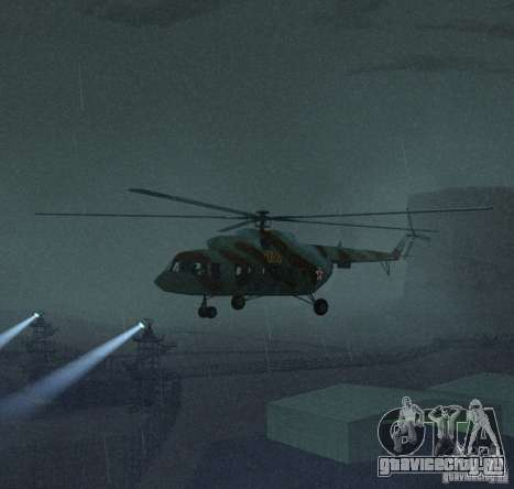 МИ-17 Военный для GTA San Andreas вид слева