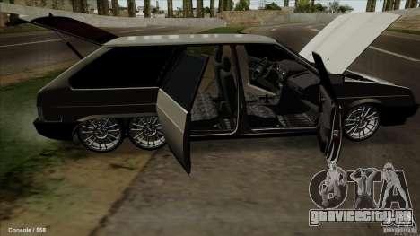 ВАЗ 2109 для GTA San Andreas вид снизу