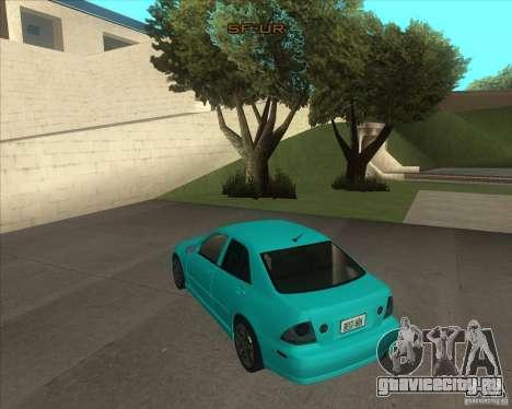 Lexus IS300 tuning для GTA San Andreas вид слева
