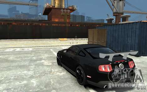 Ford Shelby GT500 v.1.0 для GTA 4 вид сзади слева