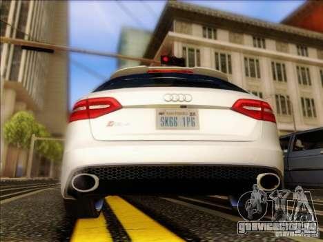 Audi RS4 Avant B8 2013 для GTA San Andreas вид справа