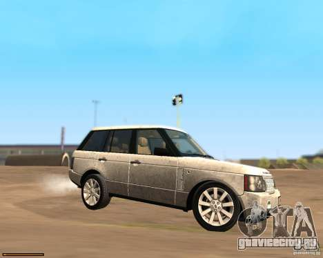 Land Rover Range Rover Supercharged 2008 для GTA San Andreas вид слева