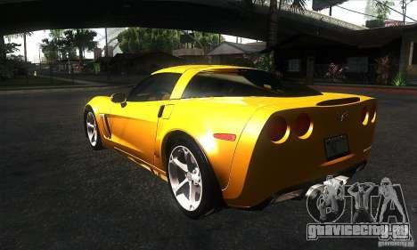 Chevrolet Corvette Grand Sport 2010 для GTA San Andreas вид сзади слева