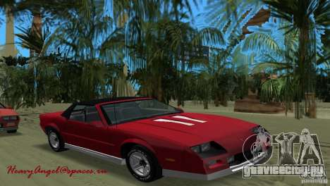 Chevrolet Camaro Convertible 1986 для GTA Vice City