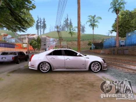 Cadillac CTS-V 2009 для GTA San Andreas вид изнутри