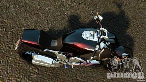 Ducati Diavel Carbon 2011 для GTA 4 вид справа