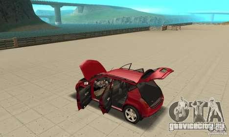 Nissan Murano 2004 для GTA San Andreas вид изнутри