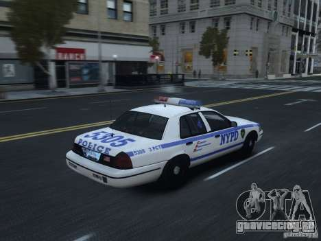 Ford Crown Victoria NYPD 2012 для GTA 4 вид справа