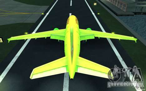 Airbus A310 S7 Airlines для GTA San Andreas вид снизу
